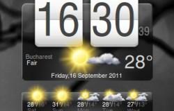 Погода и часы в стиле HTC