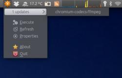 Индикатор Update Manager'а в панели