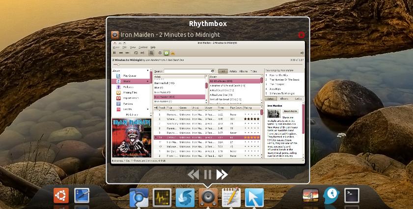 DockBarX 0.44 - Управление медийными приложениями