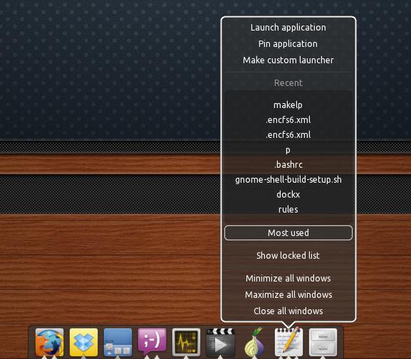 DockBarX 0.44 - Поддержка Unity