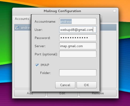 Использование Mailnag с Gmail