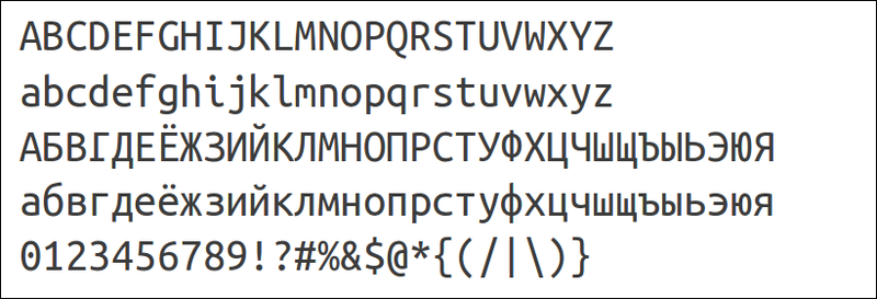 The first outline idea for pt sans depended on russian sans serif typefaces