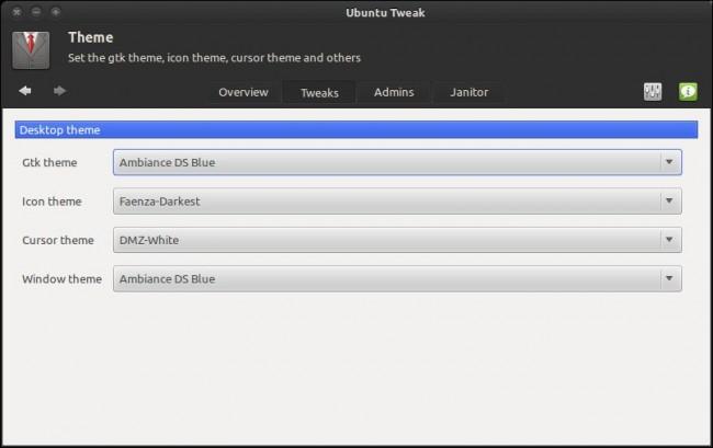 Настройка темы в Ubuntu 11.10