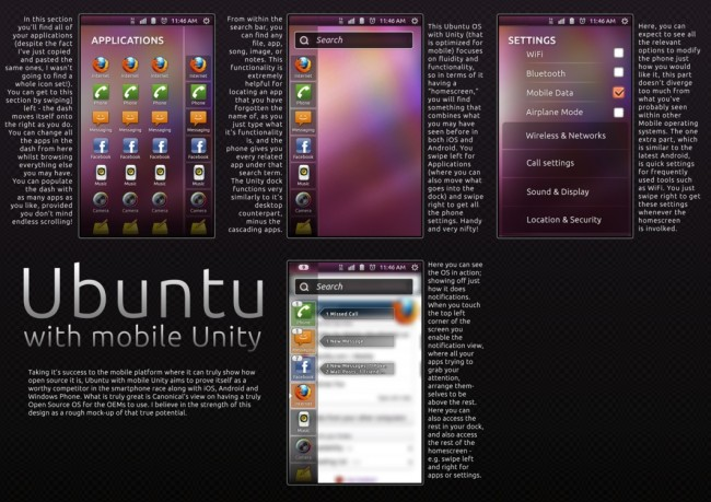 Концепт интерфейса Ubuntu Phone
