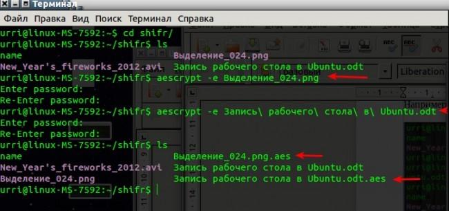 Шифрование файлов в Ubuntu Linux