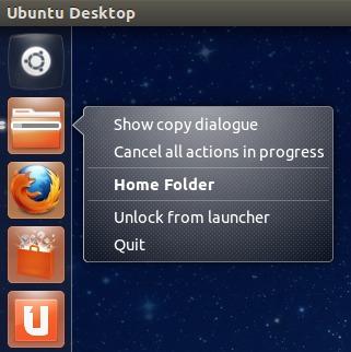 В Nautilus добавился quicklist с закладками