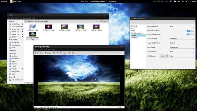 Holo - Пак тем для Gnome 3 в стиле ICS