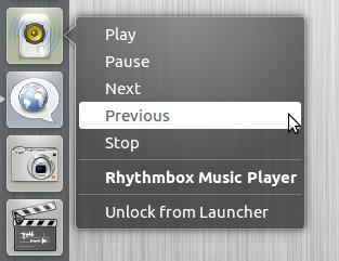Квиклист в Rhythmbox