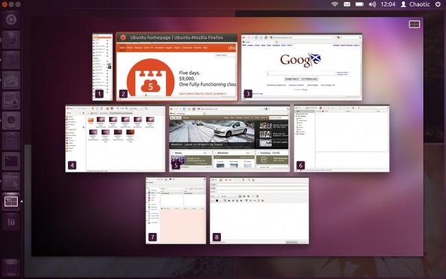 Новый вариант размещения окон в Ubuntu 12.10