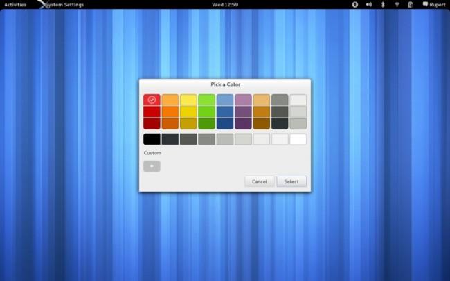 Диалог выбора цвета