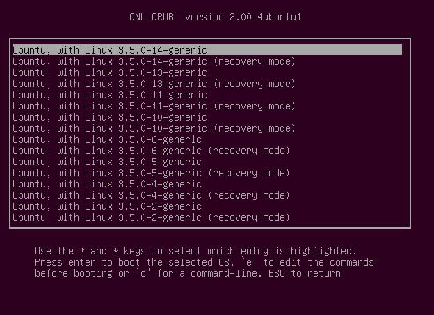 В Ubuntu 12.10 по умолчанию будет GRUB2 версии 2.0