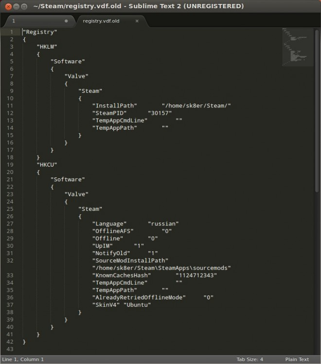 Скин для Steam в стиле Ubuntu