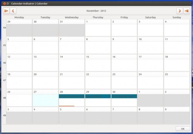 Calendar Indicator