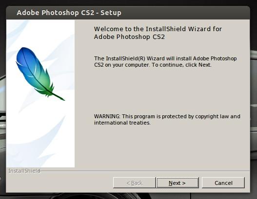 Установка Photoshop CS2 в Ubuntu