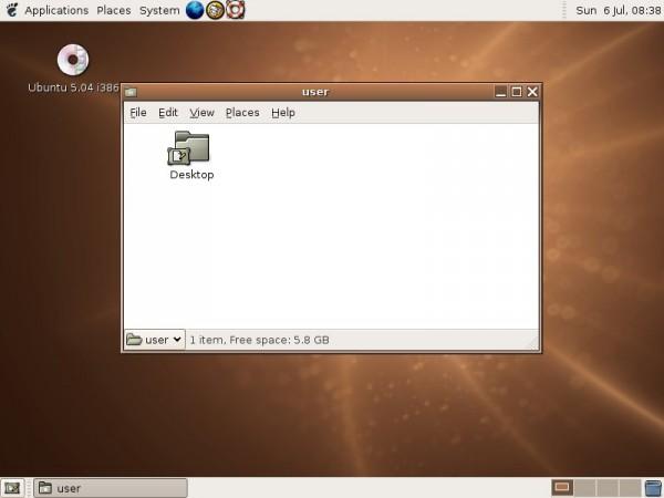 Ubuntu 5.04 Hoary Hedgehog