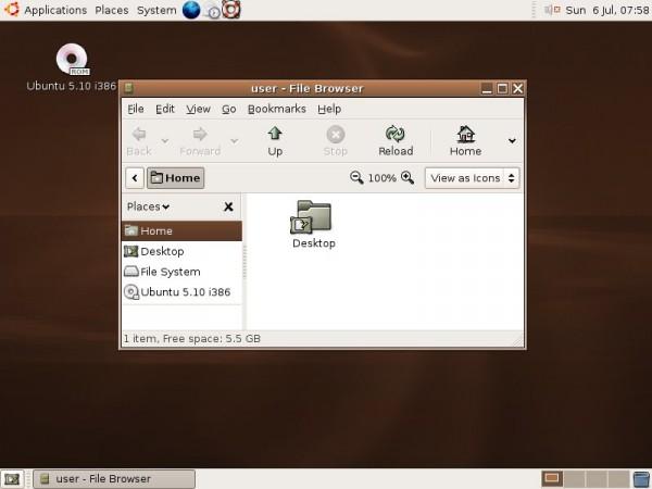 Ubuntu 5.10 Breezy Badger