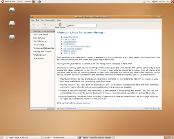 Ubuntu 7.04 Feisty Fawn