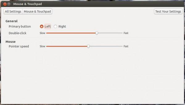 В Ubuntu 13.04 обновились настройки мыши и тачпада