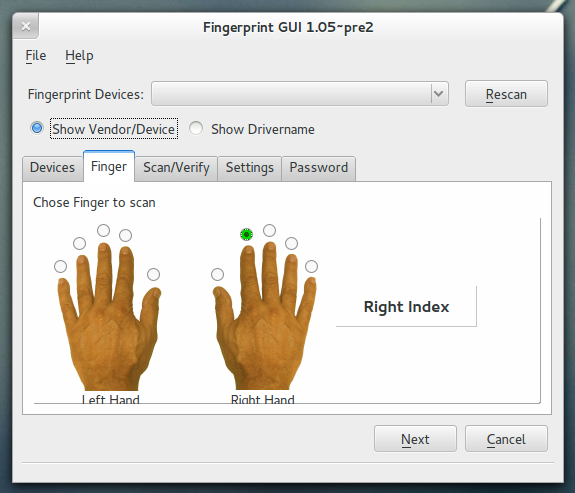 Fingerprint GUI