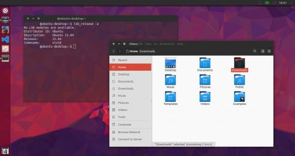 Nitrux Numix Ubuntu 15.04
